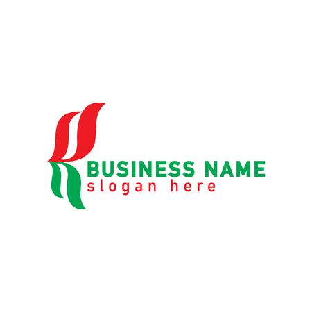 Klammer abstrakte Logo-Vorlage