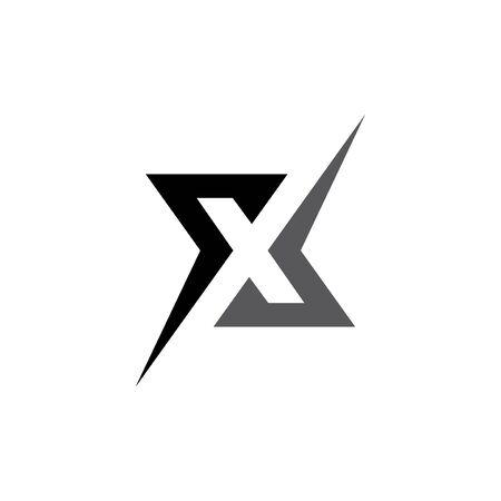 x letter abstract logo Reklamní fotografie - 89410897