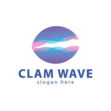 Clam wave icon design.