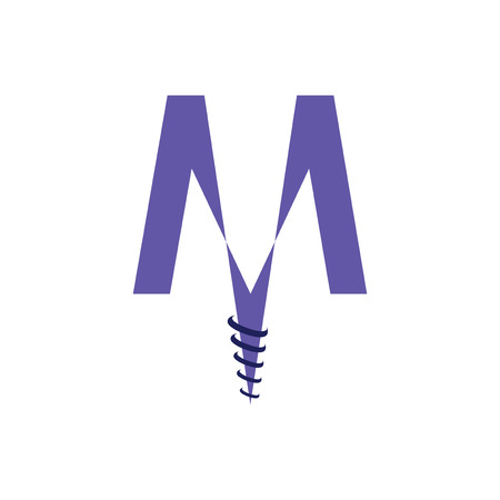 Letter M icon concept design. Illustration