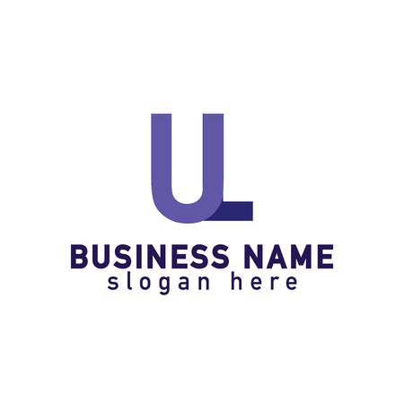 linked: Letter U icon template design. Illustration