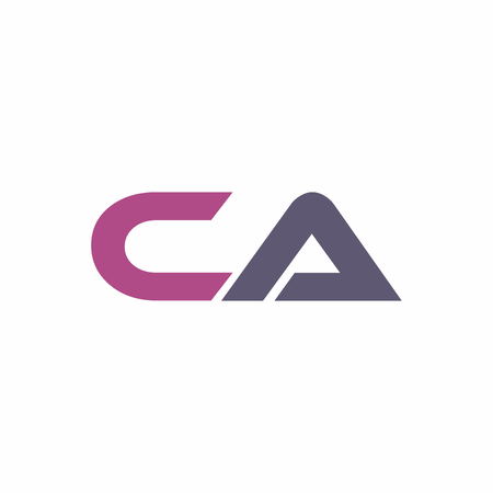 CA Letter Linked Logo Vector