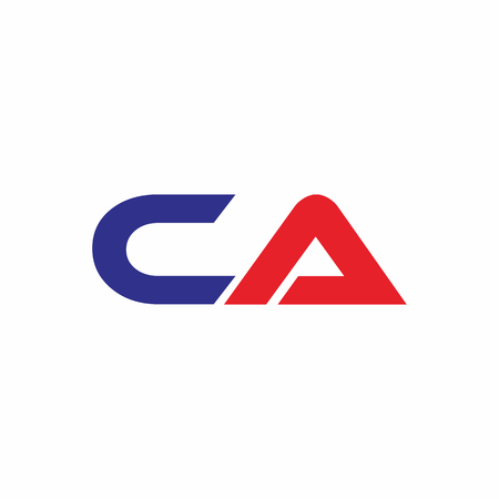 CA Letter Linked Logo Vector in isolated background Illustration