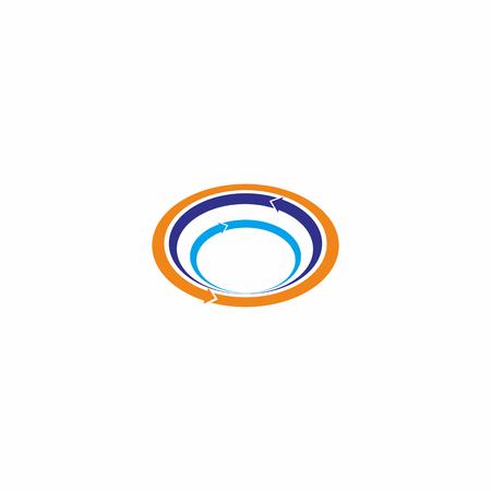Cercle abstrait logo vecteur Banque d'images - 90089452