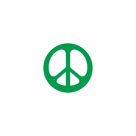 Abstract Peace Logo Icon Çizim