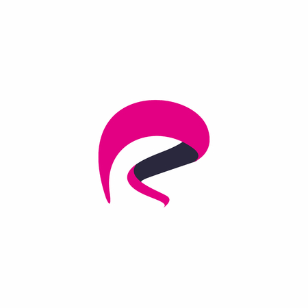 R letter abstract logo design