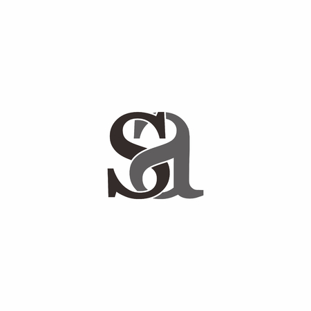 S a letter rounded logo vector