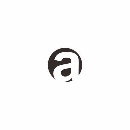 A letter in circle logo Ilustração