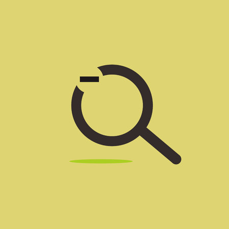 Negative magnifier logo icon