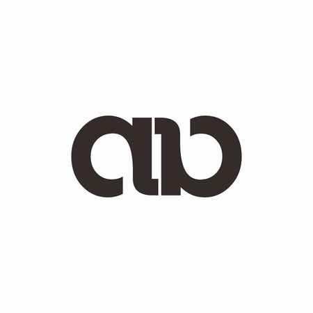 Ab letter linked logo vector