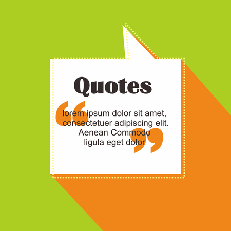 Quote text template vector format in square shape