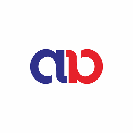 Ab letter linked logo vector