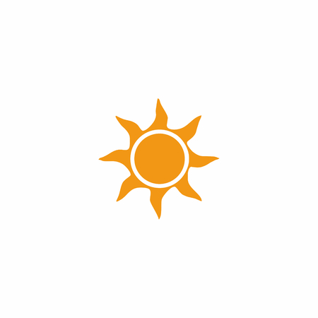 Yellow sun logo isolated on white 向量圖像