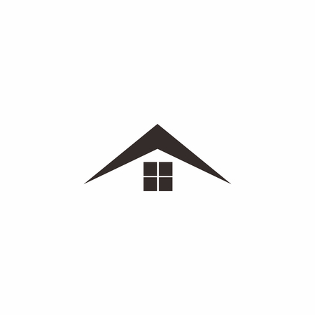 Abstract home roof logo isolated on white Stock Illustratie