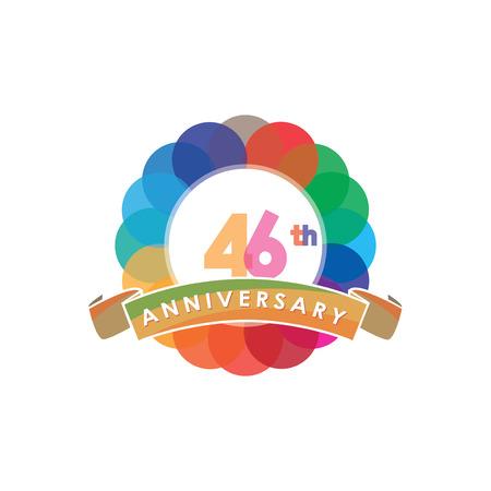 Forty-six Anniversary logo vector