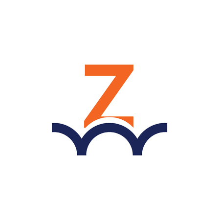 Z letter bridge logo design