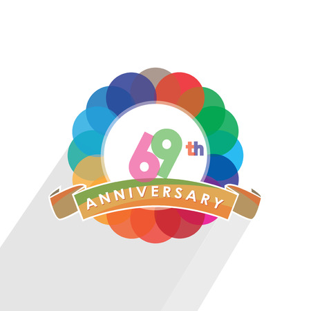 sixty-nine anniversary logo design