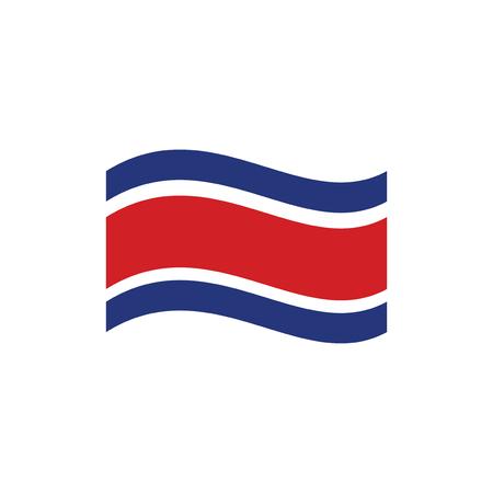 Flag of Costa Rica Logo icon