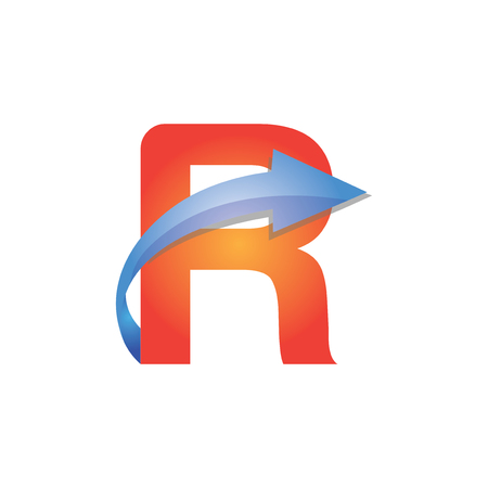 R Letter Arrow Logo Element Stock Photo