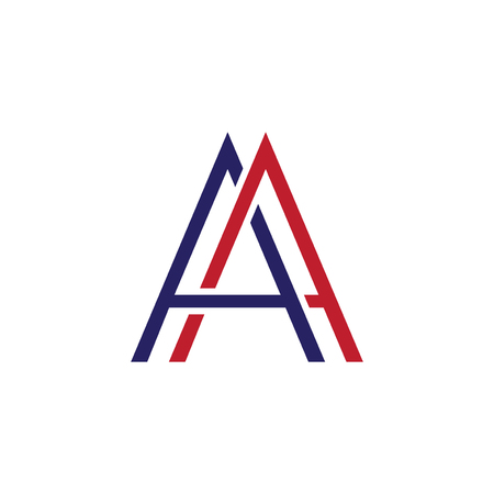 AA Letter Line Logo Element