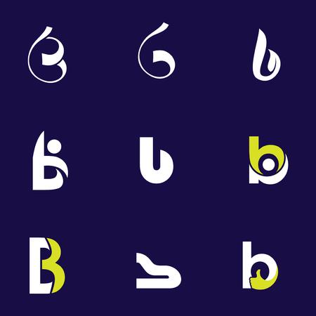 Set of letter logo design template elements collection of vector letter B logo
