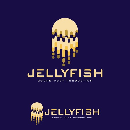 Jellyfish abstract logo vector template Ilustracja
