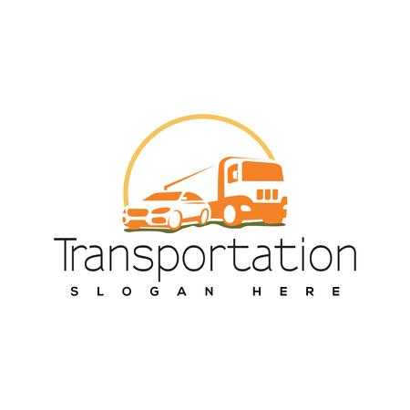 Transportation Car and Truck logo vector. Transportation logo template