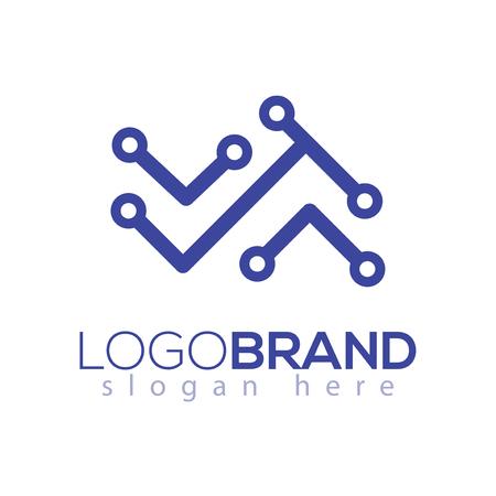 Abstract Line technology logo element. technology logo template