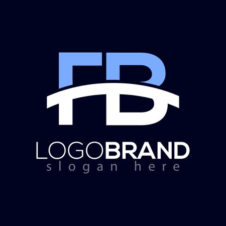 F B Initial with Bridge Logo Vector Element. Bridge Logo Template