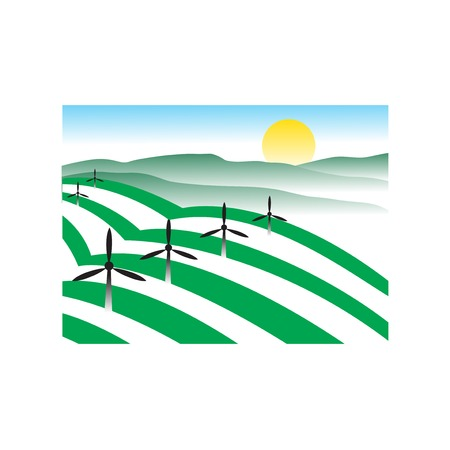 Vector logo design of agriculture plant and technology. Agriculture logo template