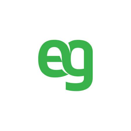 e g initial Letter icon element. Vektoros illusztráció