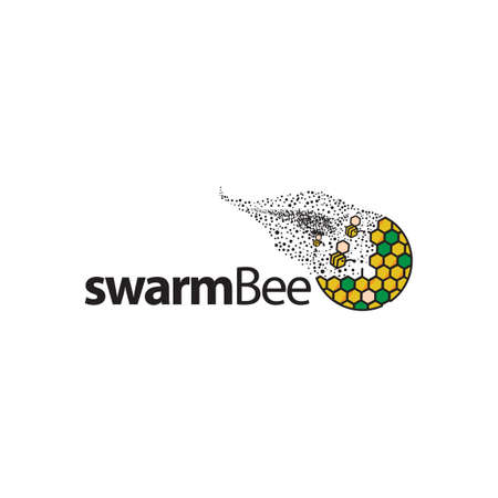 swarm bee icon element. bee icon template