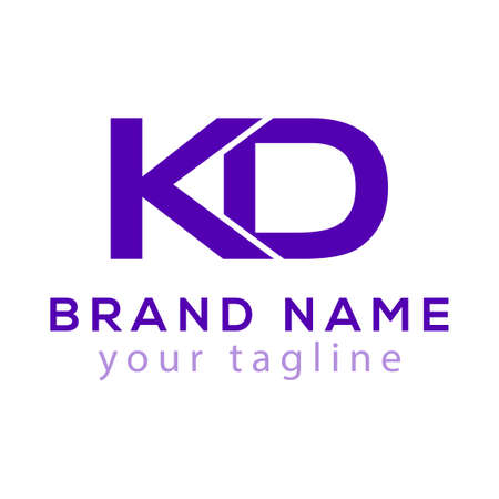 K D Initial Letter icon Element. K D Initial Template