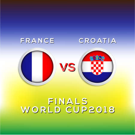 Soccer world championship France vs Croatia.