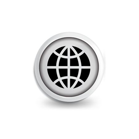 Globe icon vector. vector icon template
