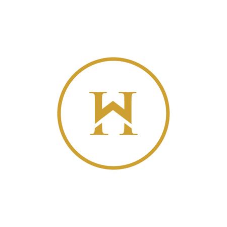 W H Initial Letter home Logo Design Element. logo Vector Template