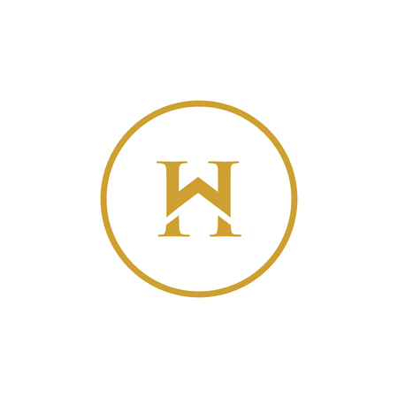 W H Initial Letter home Logo Design Element. logo Vector Template