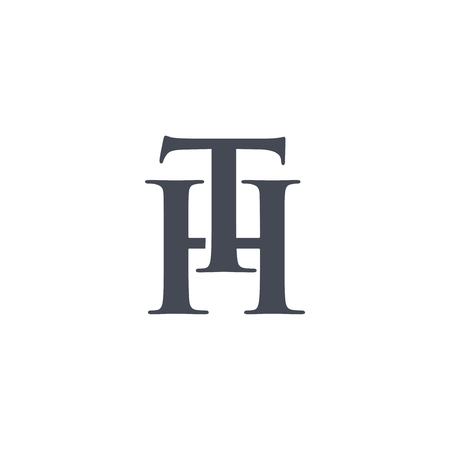 TH Initial Letter Logo Design Element. logo Vector Template Illusztráció