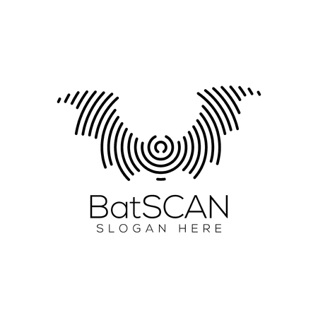 Bat Scan Technology  icon Element. Animal Technology  icon Template