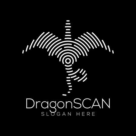 Dragon Scan Technology  icon Element. Animal Technology  icon Template Illustration