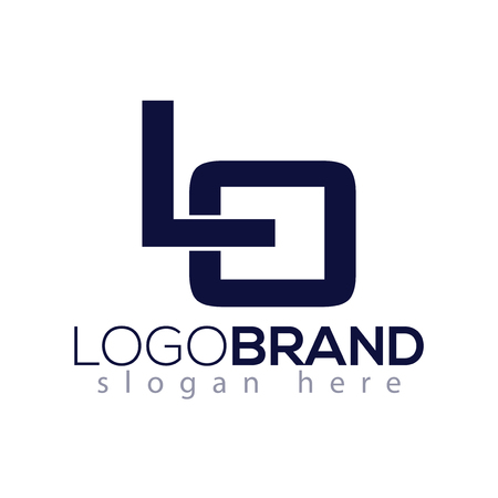 LO Initial Letter Logo vector element. Initial Logo template