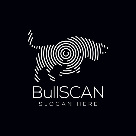 Bull Scan Technology Logo vector Element. Animal Technology Logo Template