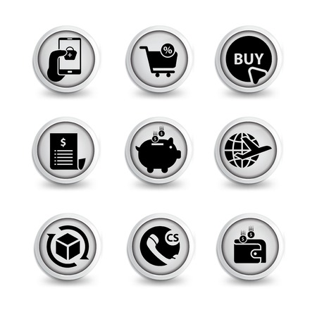 E-Commerce icon set vector template. icon sign element