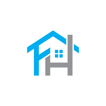 Élément de logo lettre initiale FH. modèle de logo lettre maison
