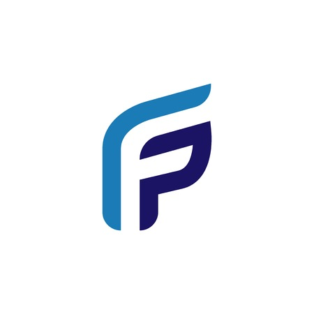 F p Initial Letter Logo Vector element. Initial logo template