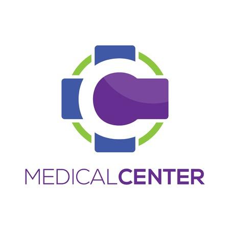 Medical Center logo vector element. center of medical logo template