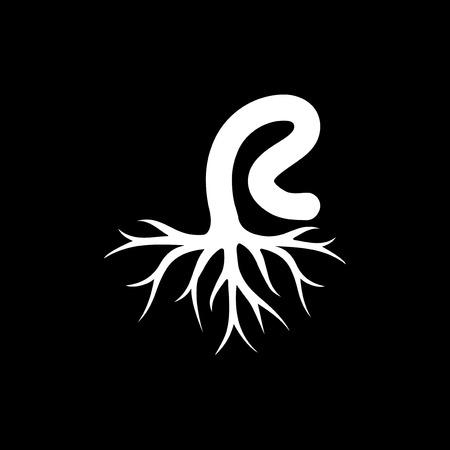 R letter Root logo element template Ilustrace