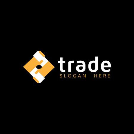 Logotipo commerciale. modello di logo di stretta di mano di cooperazione Logo