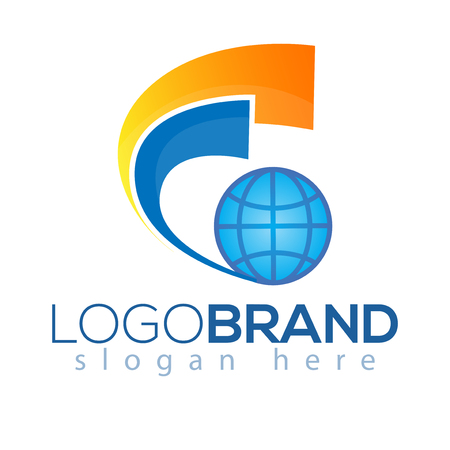 G Letter Logo vector element. Global logo vector template