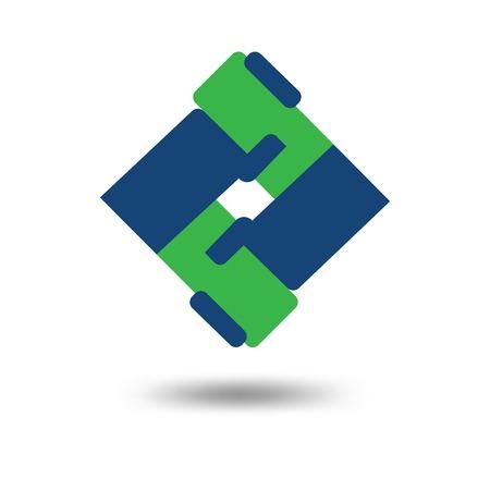 friendship cooperation square logo vector template. cooperation hand shake logo template